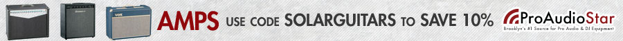 Exclusive 10% off Coupon for Solar Guitars Readers